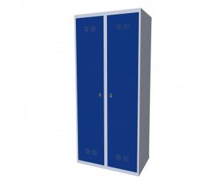 Kovová šatňová skriňa SUPE 400-02 7035/5005 - svetlosivá / modrá