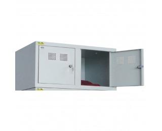 Nadstavba k šatňovej skrini s dvoma komorami SU 400-02 - svetlosivá