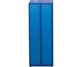 Školská šatňová skrinka s dvoma komorami SUS 300 02 - tmavomodrá / modrá