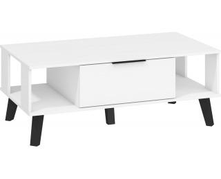 Konferenčný stolík Sven SVN-05 - biela / biely lesk