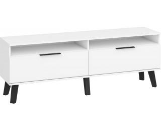 TV stolík Sven SVN-11 - biela / biely lesk