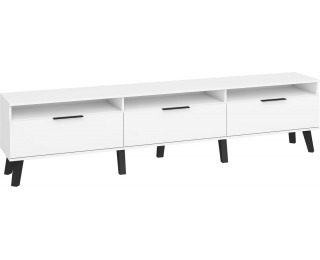 TV stolík Sven SVN-12 - biela / biely lesk