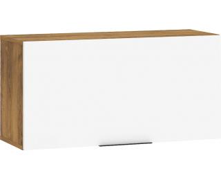 Skrinka na stenu Sven SVN-16 - dub burgundský / biely lesk