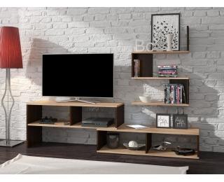 TV stolík Sydney - sonoma svetlá / sonoma tmavá