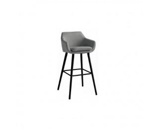Barová stolička Tahira - sivohnedá / čierna