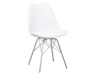Jedálenská stolička Tamora - biela / chróm