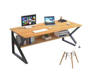 Písací stôl Tarcal 100 - buk / čierna