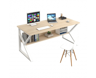 Písací stôl Tarcal 80 - dub / biela