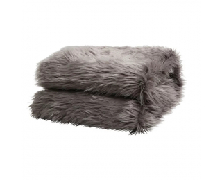 Kožušinová deka Ebona Typ 5 150x180 cm - sivá