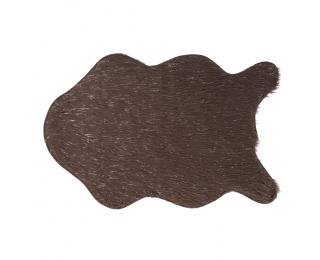 Umelá kožušina Fox Typ 4 60x90 cm - sivohnedá taupe / strieborná
