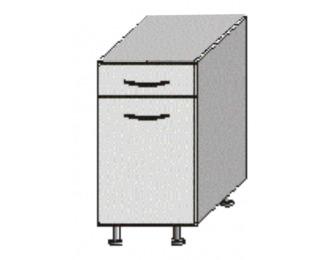 Dolná kuchynská skrinka Jura New B D-40 S1 - biela / wenge