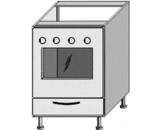 Kuchynská skrinka na sporák Jura New B ZK-60 K1 - biela / wenge