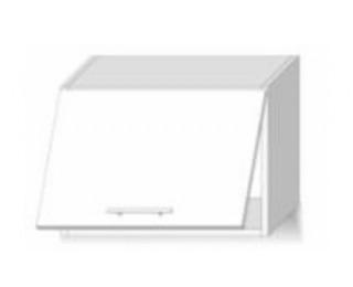 Horná kuchynská skrinka Line White G60OK - biely vysoký lesk / dub sonoma