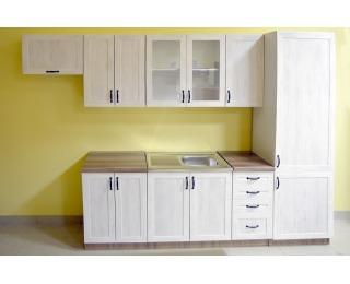 Kuchyňa Royal - biela sosna nordická / dub divoký