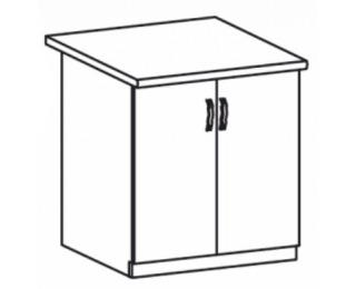 Dolná kuchynská skrinka Royal D60 - biela sosna nordická / dub divoký