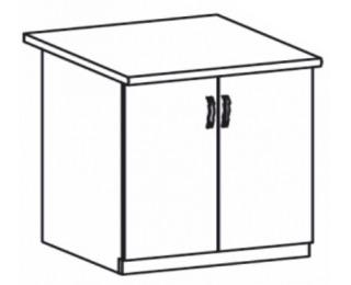Dolná kuchynská skrinka Royal D80 - biela sosna nordická / dub divoký