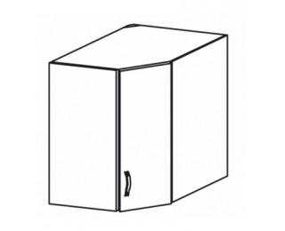 Horná rohová kuchynská skrinka Royal G60N - biela sosna nordická / dub divoký