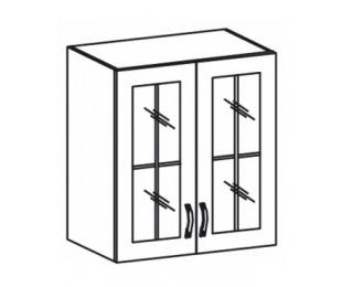 Horná kuchynská skrinka Royal G60S - biela sosna nordická / dub divoký