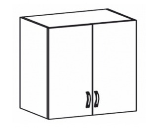 Horná kuchynská skrinka Royal G80 - biela sosna nordická / dub divoký