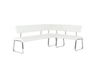 Rohová lavica do kuchyne Vesata Typ 1 - biela / chróm