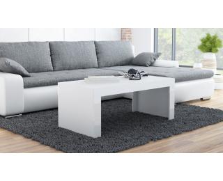 Konferenčný stolík Tess - biela / biely lesk
