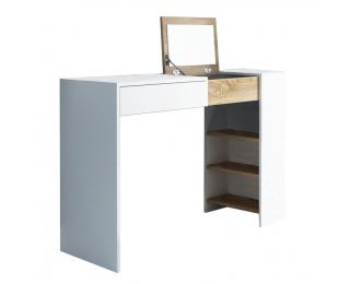 Toaletný stolík Elis - biela / dub sonoma