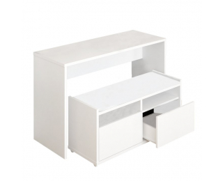 Toaletný stolík s lavicou Delima - biela