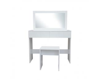 Toaletný stolík s taburetkou Lilien - biela