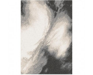Koberec Tocar 133x190 cm - biela / hnedá / čierna