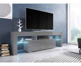 TV stolík Toro 138 - sivá / sivý lesk