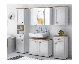 Kúpeľňa Toskana - biela / dub artisan