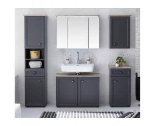 Kúpeľňa Toskana - tmavosivá / dub