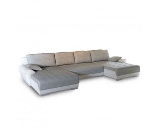 Rohová sedačka U s rozkladom a úložným priestorom Trendy L/P - biela / sivá