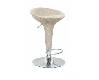 Barová stolička Turid - béžová / chróm