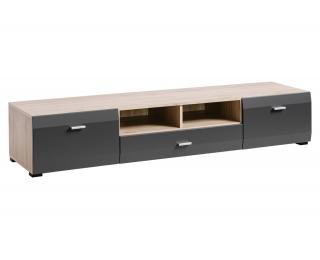 TV stolík Clif - dub san remo / grafit