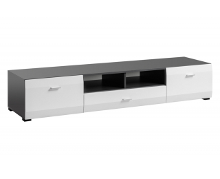 TV stolík Clif - grafit / biela