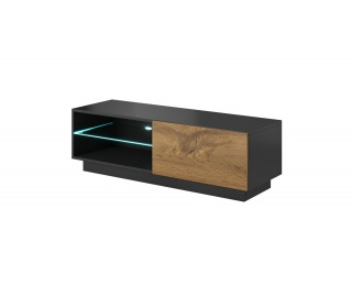 TV stolík Livo 120S - antracit / dub wotan