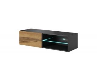 TV stolík na stenu Livo 120W - antracit / dub wotan