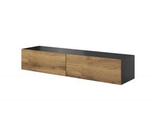 TV stolík na stenu Livo 160W - antracit / dub wotan
