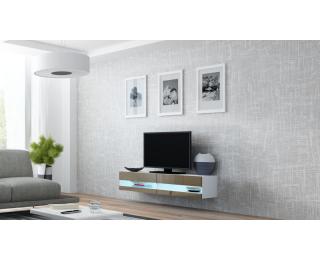 TV stolík na stenu Vigo New 140 - biela / latte lesk