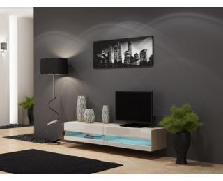 TV stolík na stenu Vigo New 180 - dub sonoma / biely lesk