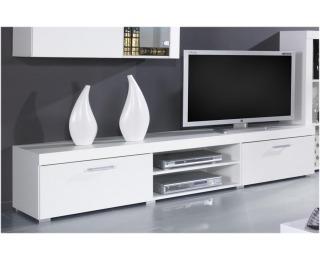 TV stolík Samba REG8 - biela / biely lesk