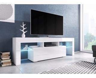 TV stolík Toro 138 - biela / biely lesk