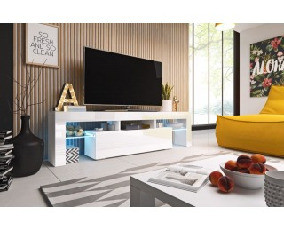 TV stolík Toro 158 - biela / biely lesk