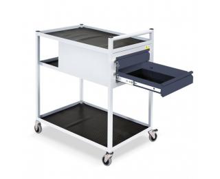 Mobilný servisný vozík na kolieskach TWS 01 - svetlosivá / grafit