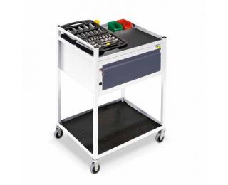 Mobilný servisný vozík na kolieskach TWS 06 - svetlosivá / grafit