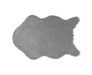 Umelá kožušina Fox Typ 2 60x90 cm - sivá / strieborná