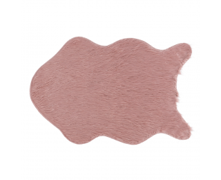 Umelá kožušina Fox Typ 3 60x90 cm - ružová / zlatoružová