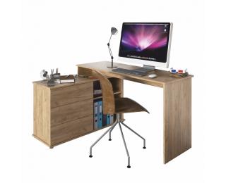 Univerzálny rohový PC stôl Terino L/P - dub artisan