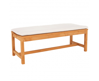 Drevená záhradná lavička Veata 120 cm - prírodná / béžová